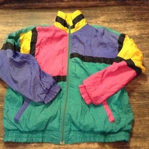 Blair Boutique Jackets & Coats - 80/90's Neon Windbreaker  Colorblock